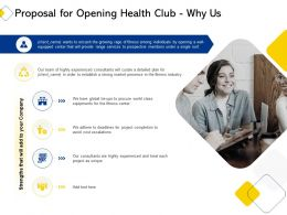 Proposal For Opening Health Club Why Us Ppt Powerpoint Presentation Icon Portrait