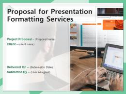 Proposal For Presentation Formatting Services Powerpoint Presentation Slides
