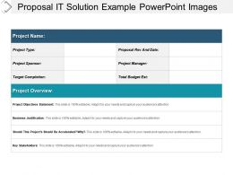 Proposal It Solution Example Powerpoint Images