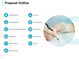 Proposal Outline Cost Estimate Ppt Powerpoint Presentation Slides