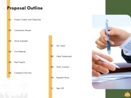 Proposal Outline L1493 Ppt Powerpoint Presentation Slides