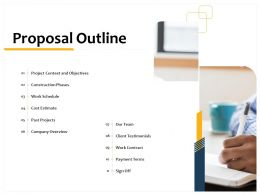 Proposal Outline L1501 Ppt Powerpoint Presentation Diagrams