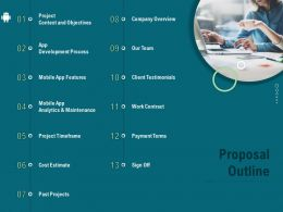 Proposal Outline Payment Terms Ppt Infographics