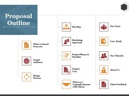 Proposal Outline Ppt Summary Pictures