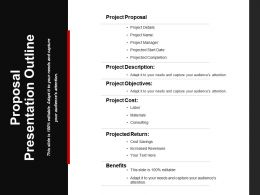 Proposal Presentation Outline Powerpoint Slide Ideas
