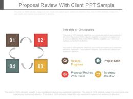 Proposal Review With Client Ppt Sample
