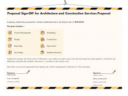 Proposal Sign Off For Architecture And Construction Services Proposal Ppt Powerpoint File