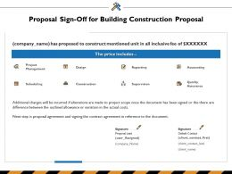 Proposal Sign Off For Building Construction Proposal Ppt Powerpoint Presentation Icon Clipart Images