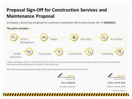Proposal Sign Off For Construction Services And Maintenance Proposal Ppt Template