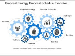 Proposal Strategy Proposal Schedule Executive Summary Team Charter