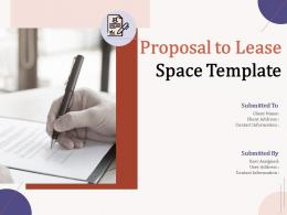 Proposal To Lease Space Template Powerpoint Presentation Slides
