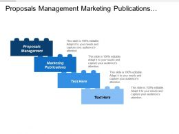 Proposals Management Marketing Publications Repairs Spares Program Project