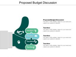 Proposed Budget Discussion Ppt Powerpoint Presentation Ideas Designs Cpb