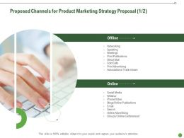 Proposed Channels For Product Marketing Strategy Proposal Ppt Powerpoint Information