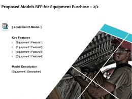 Proposed Models RFP For Equipment Purchase Business Ppt Powerpoint Presentation Ideas Templates