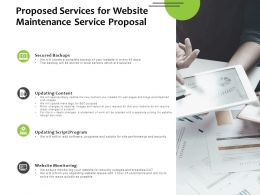Proposed Services For Website Maintenance Service Proposal Powerpoint Slides