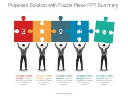 Proposed Solution With Puzzle Piece Ppt Summary