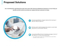 Proposed Solutions Management Ppt Powerpoint Presentation Objects