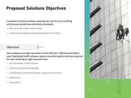 Proposed Solutions Objectives Ppt Powerpoint Presentation Professional Gridlines