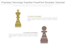 Proprietary Technology Expertise Powerpoint Templates Download