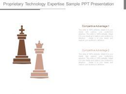 Proprietary Technology Expertise Sample Ppt Presentation