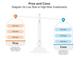 Pros And Cons Diagram For Low Risk To High Risk Investments Infographic Template