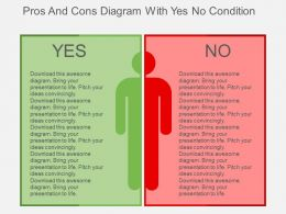 Pros And Cons Diagram With Yes No Condition Flat Powerpoint Design