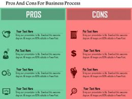 pros_and_cons_for_business_process_flat_powerpoint_design_Slide01
