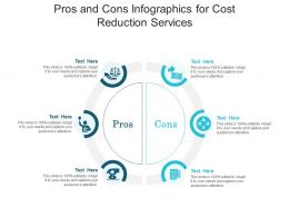 Pros And Cons For Cost Reduction Services Infographic Template