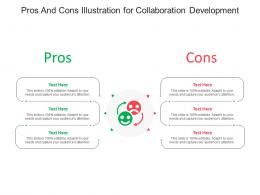 Pros And Cons Illustration For Collaboration Development Infographic Template