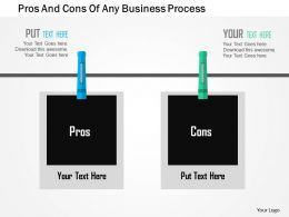 Pros And Cons Of Any Business Process Flat Powerpoint Design