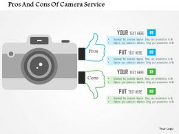 Pros And Cons Of Camera Service Flat Powerpoint Design