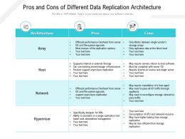 Pros And Cons Of Different Data Replication Architecture