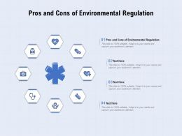 Pros And Cons Of Environmental Regulation Ppt Powerpoint Presentation Template