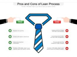 Pros And Cons Of Lean Process