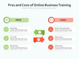 Pros And Cons Of Online Business Training