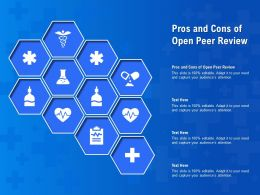 Pros And Cons Of Open Peer Review Ppt Powerpoint Presentation Layouts Model