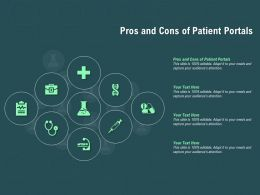 Pros And Cons Of Patient Portals Ppt Powerpoint Presentation Icon Skills