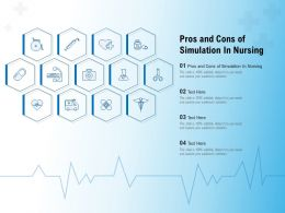 Pros And Cons Of Simulation In Nursing Ppt Powerpoint Presentation Styles Graphics