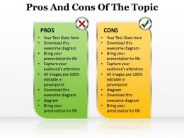 pros and cons of the topic editable powerpoint templates infographics images 1121