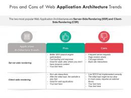 Pros And Cons Of Web Application Architecture Trends