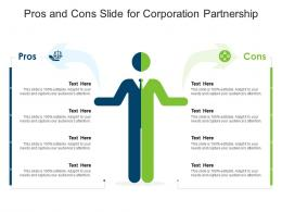 Pros And Cons Slide For Corporation Partnership Infographic Template