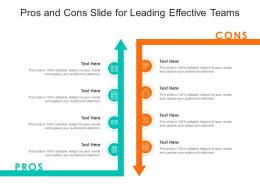 Pros And Cons Slide For Leading Effective Teams Infographic Template