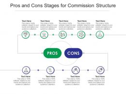 Pros And Cons Stages For Commission Structure Infographic Template