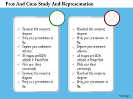 Pros And Cons Study And Representation Flat Powerpoint Design