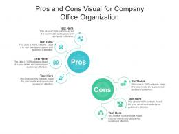 Pros And Cons Visual For Company Office Organization Infographic Template