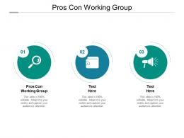 Pros Con Working Group Ppt Powerpoint Presentation Slides Deck Cpb