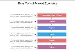 Pros Cons A Market Economy Ppt Powerpoint Presentation Design Inspiration Cpb