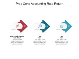 Pros Cons Accounting Rate Return Ppt Powerpoint Presentation File Influencers Cpb