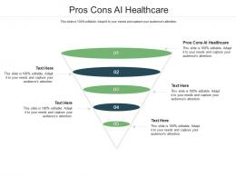 Pros Cons AI Healthcare Ppt Powerpoint Presentation Slides Rules Cpb